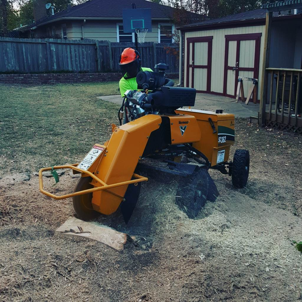 Large stump grinder.